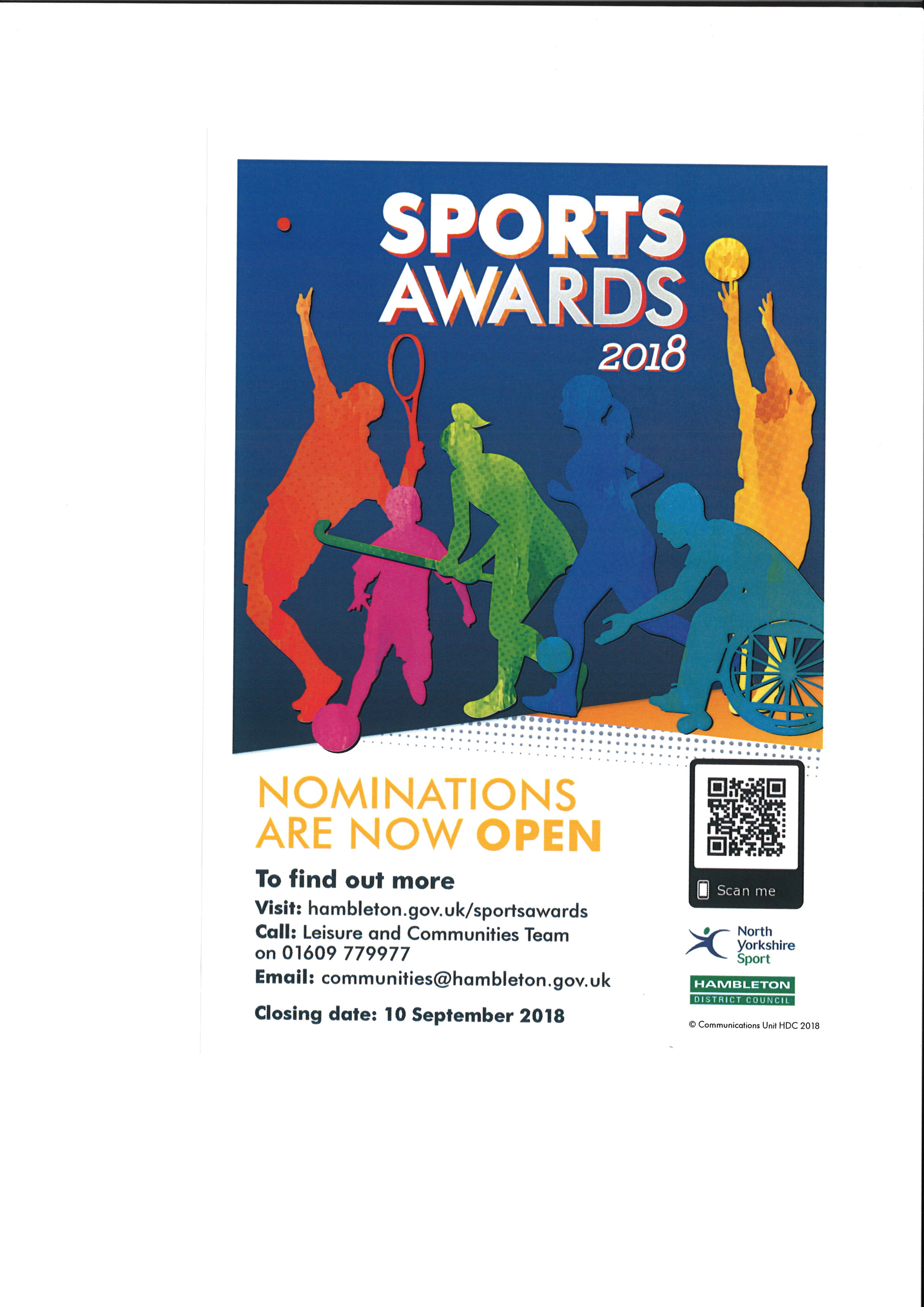 Hambleton District Council Sports Awards 2018